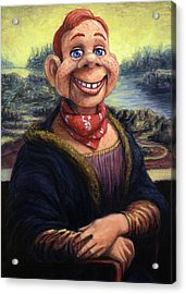 Howdy Doovinci Acrylic Print by James W Johnson