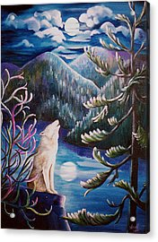 Acrylic Print featuring the painting Howlin' The Blues by Renate Nadi Wesley