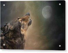 Howling At The Moon Acrylic Print