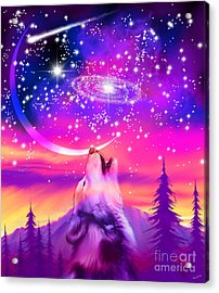 Howling At The Universe Acrylic Print
