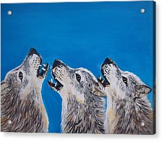 Howling Trio Acrylic Print