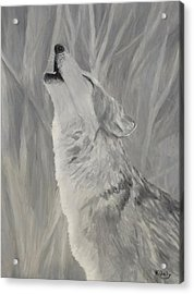 Acrylic Print featuring the painting Howling Wolf by Kevin Daly