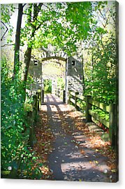 Hoyt Park Footbridge Vertical Acrylic Print