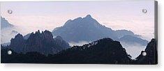Huangshan Mountain Scene Acrylic Print by PuiYuen Ng