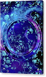 Acrylic Print featuring the painting Hubble 3014 by Susan Maxwell Schmidt