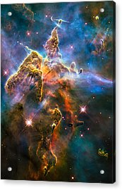 Hubble Captures View Of Mystic Mountain Acrylic Print by Marco Oliveira