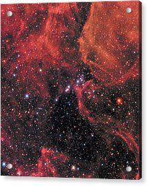 Acrylic Print featuring the photograph Hubble Captures Wide View Of Supernova 1987a by Nasa