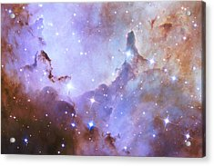 Acrylic Print featuring the photograph Hubble Space Telescope Celebrates 25 Years Of Unveiling The Universe by Nasa