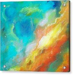 Hubble Swan Nebula The Perfect Storm Acrylic Print by Lynda McDonald