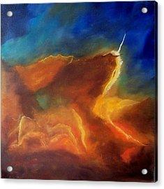 Hubble The Trifid Nebula Stellar Nursery Acrylic Print by Lynda McDonald