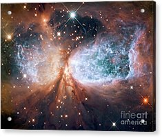 Hubble View Of Star Forming Region S106 Acrylic Print by Mohamed Elkhamisy