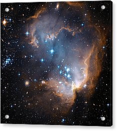 Hubble's View Of N90 Star-forming Region Acrylic Print