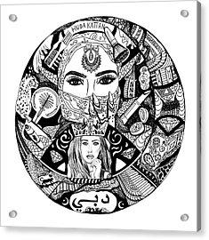 Huda Kattan Contour Drawing Acrylic Print by Kenal Louis