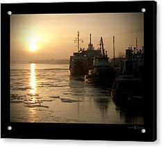 Huddled Boats Acrylic Print