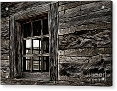 Acrylic Print featuring the photograph Hudson Bay Fort Window by Brad Allen Fine Art