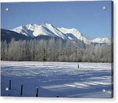 Hudson Bay Mtn Winter View Acrylic Print