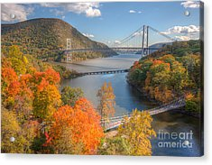 Hudson River And Bridges Acrylic Print