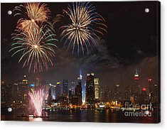 Hudson River Fireworks Iv Acrylic Print