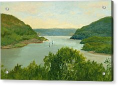 Hudson River From Bear Mt. Acrylic Print by Phyllis Tarlow