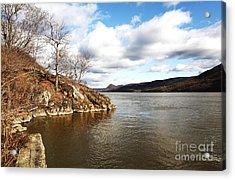 Hudson River View Acrylic Print by John Rizzuto
