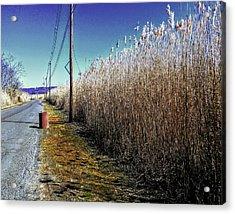 Hudson River Winter Walk Acrylic Print