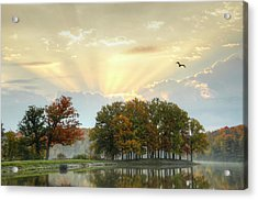 Acrylic Print featuring the photograph Hudson Springs Morning by Ann Bridges
