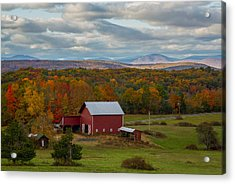 Hudson Valley Ny Fall Colors Acrylic Print