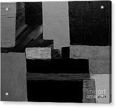 Hues Of Gray Abstract Acrylic Print by Marsha Heiken