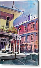 Hues Of The French Quarter Acrylic Print by Spencer Meagher