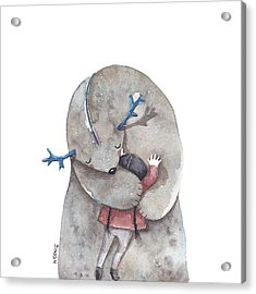 Hug Me Acrylic Print by Soosh