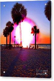 Huge Sun Pine Island Sunset  Acrylic Print