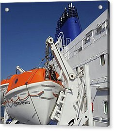 Huge #dfds Ferry ⛴ That Takes 500 Acrylic Print by Dante Harker