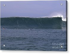 Huge Mavericks Wall Acrylic Print by Stan and Anne Foster