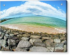 Acrylic Print featuring the photograph Huge Wikiki Beach by Micah May