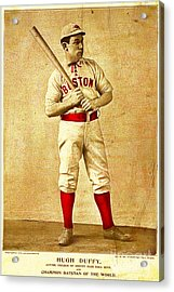 Hugh Duffy Boston Red Sox 1895 Acrylic Print by Audreen Gieger