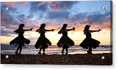 Hula At Sunset Acrylic Print