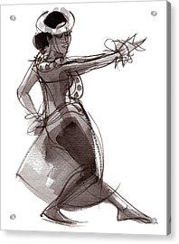 Hula Dancer Keala Acrylic Print