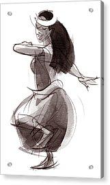 Hula Dancer Olina Acrylic Print