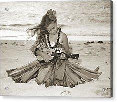 Hula Girl Acrylic Print by Himani - Printscapes