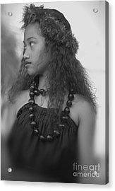 Hula Girl Acrylic Print by Uldra Johnson