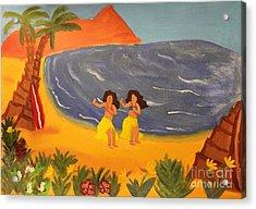 Hula Girls Acrylic Print