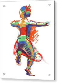 Hula Wahine Ikaika Acrylic Print