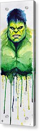 Hulk Acrylic Print by David Kraig