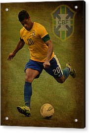 Hulk Kicks Givanildo Vieira De Souza Acrylic Print by Lee Dos Santos