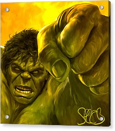 Hulk Acrylic Print by Mark Spears
