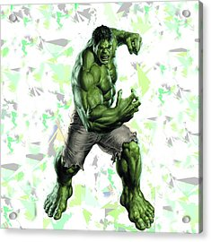 Hulk Splash Super Hero Series Acrylic Print