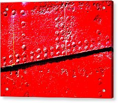 Hull Plate Abstract Enhanced Acrylic Print