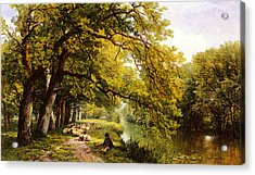 Hulme Frederick William At Ockham Surrey In Summer Acrylic Print by Frederick William Hulme