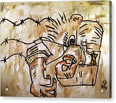 Human Dipole After Ben Shahn Acrylic Print by Charlie Spear