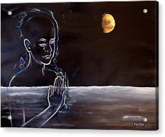 Human Spirit Moonscape Acrylic Print by Susan Moore